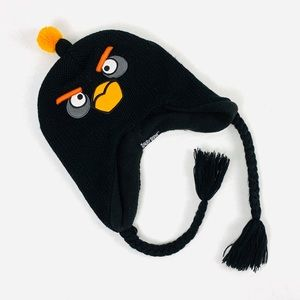 Angry Birds Bomb hat with pom pom and ear flaps
